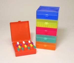 R1020, Tube Storage Freezer Box, hinged lid, 100 x 1.5ml, Rainbow Pack of 5, R1020 - PK - MTC Bio - MTC Bio