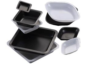 B6501B, MTC BIO Diamond Shaped Weigh Boats, 5mL, 35x55mm, Black, PK of 500 - PK - MTC Bio - GENERAL LAB SUPPLIES