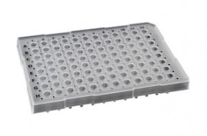 74350, Semi-Skirt96 Raised Rim PCR Plate - BLUE - CS - Sorenson BioScience - PCR Products