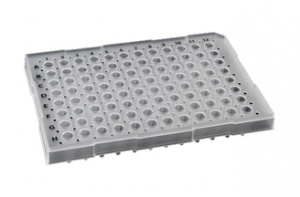74390, SORENSON Semi-Skirt 96 Well Raised Rim PCR Plate - WHITE - 25 plates per pack, 1 pack per case (Case of 25) - CS - Sorenson BioScience - PCR SUPPLIES