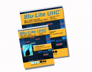 A8813, MTC BIO Blu-Lite™ UHC Autoradiography film, 5x7in, 100 sheets/box - BX - MTC Bio - ELECTROPHORESIS AND WESTERN BLOT