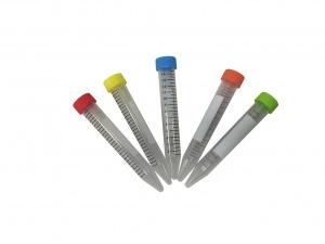 C2716, SpectraTube™ 15mL PP (17x118mm), flat rainbow screw cap, bulk bags, 25 tubes of each color per bag, 4 bags of each color per pack - CS - MTC Bio - TUBES & VIALS