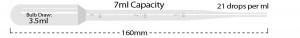 P4114-14, MTC BIO Transfer Pipette 7 mL Capacity, STERILE, GRADUATED, LARGE BULB - 20 Pipettes per Pack, 25 Packs per Case (Case of 500) - CS - MTC Bio - PIPETTES