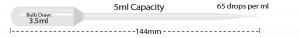 P4122-01, MTC BIO Transfer Pipette 5 mL Capacity, NON-STERILE, EXTENDED TIP, STANDARD BULB - Bulk Pack (Case of 500) - CS - MTC Bio - PIPETTES