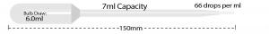 P4123-01, MTC BIO Transfer Pipette 7 mL Capacity, NON-STERILE, EXTENDED TIP, LARGE BULB - Bulk Pack (Case of 400) - CS - MTC Bio - PIPETTES