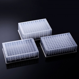 02-2010, BIOLOGIX 1.0mL POLYPROPYLENE NON-STERILE DEEP-WELL PLATE WITHOUT CAP. THE PLATE FEATURES ROUND WELLS. 24/PACK, 4 PACKS/CASE (Case of 96) - CS - BIOLOGIX - DEEP WELL PLATES
