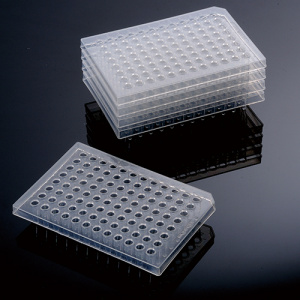 60-0056, BIOLOGIX 96 WELL CLEAR POLYPROPYLENE NON-STERILE (RNase & DNase FREE) HALF-SKIRTED PCR PLATES WITH A WORKING VOLUME OF 0.2mL PER WELL. 25 PLATES/PACK, 4 PACKS/CASE (case of 100) - CS - BIOLOGIX - BIOLOGIX