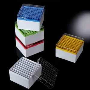 90-9381, BIOLOGIX 3.75 INCH 81 WELL POLYCARBONATE FREEZER BOX (DIMENSIONS: 132c132x95mm) WITH REMOVABLE LID. BOXES/LIDS HAVE NUMERIC GRID FOR IDENTIFICATION PURPOSES. BOXES COME IN ASSORTED COLORS (RED, YELLOW, GREEN, BLUE AND WHITE). 20/CASE, CS - CS - BIOLOGIX - GENERAL LAB SUPPLIES