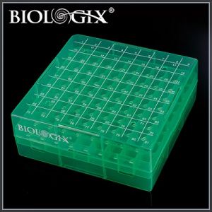 90-9081, BIOLOGIX 2 INCH 81 WELL POLYPROPYLENE FREEZER BOX WITH REMOVABLE LID. BOXES/LIDS HAVE NUMERIC GRID FOR IDENTIFICATION PURPOSES. BOXES COME IN ASSORTED COLORS (CLEAR, PINK, BLUE, GREEN AND YELLOW). 20/CASE, CS - CS - BIOLOGIX - GENERAL LAB SUPPLIES