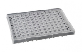 35820, SORENSON Semi-Skirted 96 well Plate - RED - 25 plates per pack, 1 pack per case (Case of 25) - CS - Sorenson Bioscience - PCR SUPPLIES